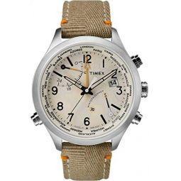 Timex Mens Waterbury World Time 43mm | Fabric Strap | Watch TW2R43300