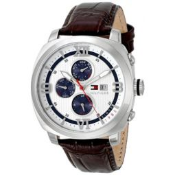 Tommy Hilfiger Mens 1790968 Sport Luxury Multi-Eye Stainless Steel Case Blue Accents Watch