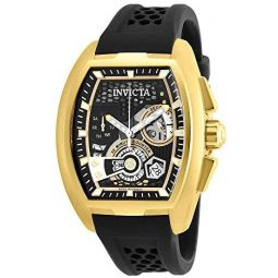 Invicta Mens S1 Rally Stainless Steel Quartz Watch with Silicone Strap, Black, 22 (Model: 26398)