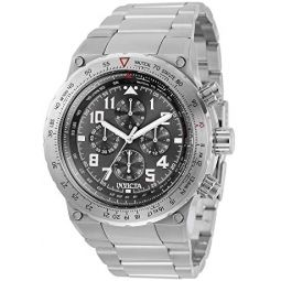 Invicta Aviator Chronograph Quartz Grey Dial Mens Watch 31585