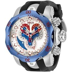 Invicta Mens Reserve Quartz Watch with Stainless Steel and Silicone Strap, Two Tone, 26 (Model: 32097)