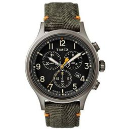 Timex Allied Quartz Movement Green Dial Mens Watch TW2R60200