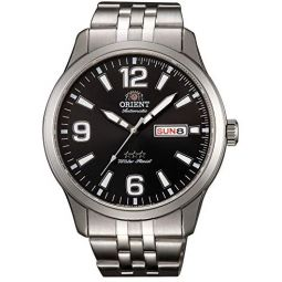 Orient Mens Automatic Watch with Stainless Steel Strap, Grey, 22 (Model: RA-AB0007B19B)