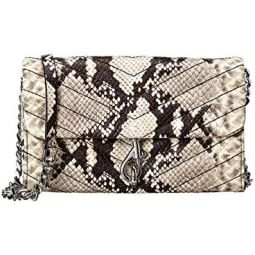 Rebecca Minkoff Edie Leather Python Embossed Wallet On-a-Chain