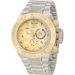 Invicta Mens 10146 Subaqua Noma IV Chronograph Gold Tone Textured Dial Watch