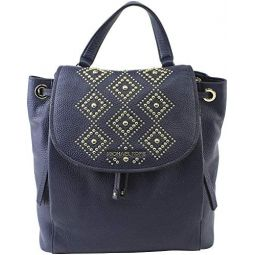 Michael Kors Riley Large Leather Backpack Navy (35S8GRLB9L)