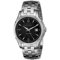 Hamilton 남성용 H32515135 재즈마스터 뷰마틱 블랙 길로쉬 다이얼 시계