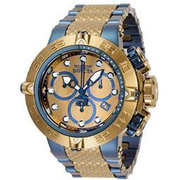 Invicta Mens 50mm Subaqua Noma Khaki and Blue Two Tone Swiss Quartz Watch Model : 34815