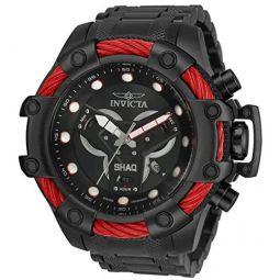 Invicta Mens Shaq Swiss Quartz Watch with Stainless Steel Strap, Black, 26 (Model: 33655)