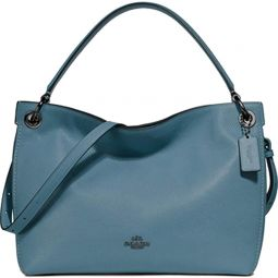 Coach Clarkson Leather Hobo Purse - #24947 - Chambray/Blue/Gunmetal