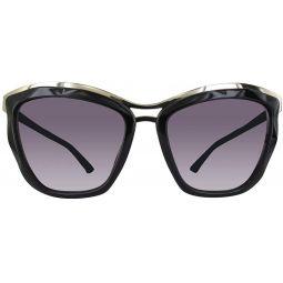 Swarovski SK0116-01B Sunglasses Black, Gold 56MM