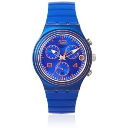 Swatch Mens YCN4009 Blue Silicone Watch: Swatch: Clothing