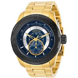 Invicta Mens S1 Rally Quartz Watch with Stainless Steel Strap, Gold, 26 (Model: 30573)