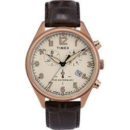 Timex Waterbury Traditional Chronograph 42 mm Gold-Tone Watch TW2R88300