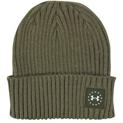 Under Armour Freedom Patch Beanie - Marine Green Medium Heather/White