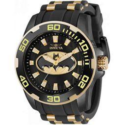 Invicta DC Comics Batman Mens 50mm Limited Edition Black/Gold Watch 32480