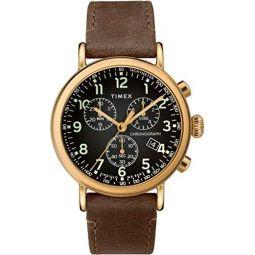 Timex Standard Chronograph 41 mm Gold-Tone Brass Watch TW2T20900