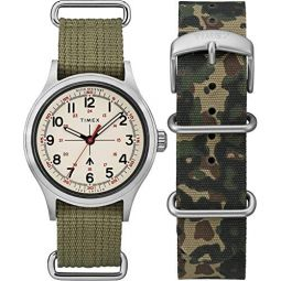 Timex Mens Todd Snyder Military 40mm Box Set
