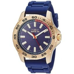Invicta Mens Pro Diver Stainless Steel Quartz Watch with Silicone Strap, Blue, 0.8 (Model: 21942)