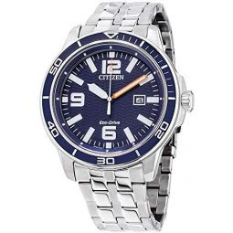 Citizen Brycen Eco-Drive Movement Blue Dial Mens Watch AW1520-85L