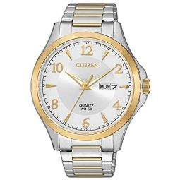 Citizen Mens Quartz Watch with Stainless Steel Strap, Two Tone, 20 (Model: BF2005-54A)