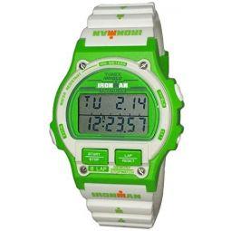Timex Ironman Triathlon Sport Mens Green White Digital Watch Resin Strap TW5M03700