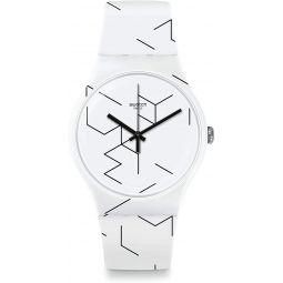 Swatch Meiro Quartz Movement White Dial Unisex Watch SUOW164