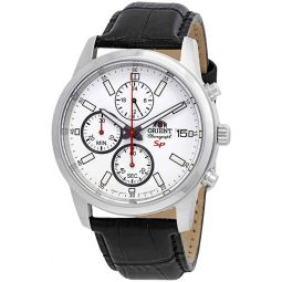 Orient Sporty Chronograph White Dial Mens Watch FKU00006W