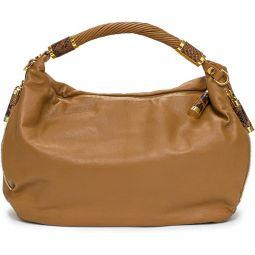 Michael Kors Collection Barley Tonne Brown Large Slouchy Hobo Leather Bag Handbag New