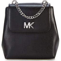 MICHAEL Michael Kors Mott Chain Backpack Silver-Toned
