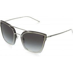 Emporio Armani EA2076 30158G Silver EA2076 Butterfly Sunglasses Lens Category 3