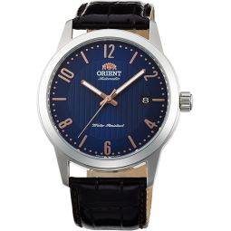 Orient FAC05007D Mens Howard Leather Band Blue Dial Automatic Watch