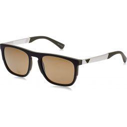 Emporio Armani EA4114 56747I Matte Olive EA4114 Square Sunglasses Lens Category