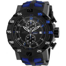 Invicta Mens S1 Rally Evolution Japanese SII VD51 Quartz Chronograph Black & Blue Watch