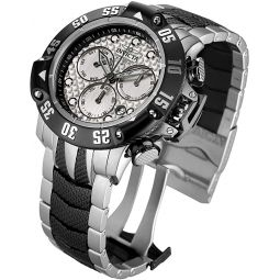 Invicta Mens Subaqua Quartz Watch with Stainless-Steel Strap, Silver, 26 (Model: 23804)