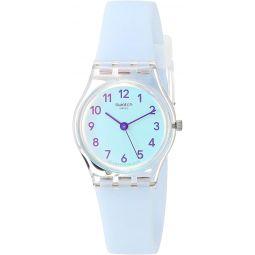 Swatch Essentials Quartz Silicone Strap, Blue, 12 Casual Watch (Model: LK396)