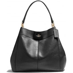 Coach Large Lexy in Pebble Leather Shoulder bag 23511 Midnight