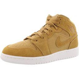 Jordan Kids AIR 1 MID BG Golden Harvest SAIL Size 5.5