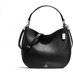 COACH NOMAD HOBO IN GLOVETANNED LEATHER F36026 BLACK