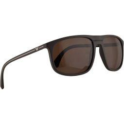 Emporio Armani EA4118 Sunglasses Mud Rubber w/Brown Lens 59mm 569373 EA 4118