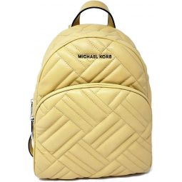 MICHAEL Michael Kors Abbey Medium Quilted Leather Backpack Dusty Daisy Yellow