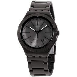 Swatch Irony Quartz Movement Black Dial Mens Watch YWB404G