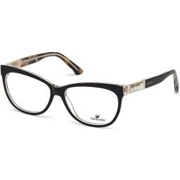 SWAROVSKI for woman sk5091 - 005, Designer Eyeglasses Caliber 56, Black, 56-14-140
