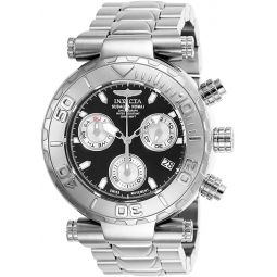 Invicta Mens Subaqua Quartz Watch with Stainless-Steel Strap, Silver, 24 (Model: 25797)