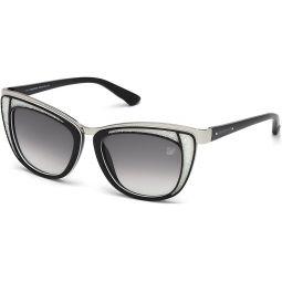 Swarovski Womens Diva Wayfarer Sunglasses,Black,53 mm: Clothing