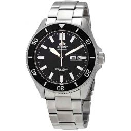 Orient RA-AA0008B Mens Kano Stainless Steel Black Bezel Black Dial Automatic Dive Watch