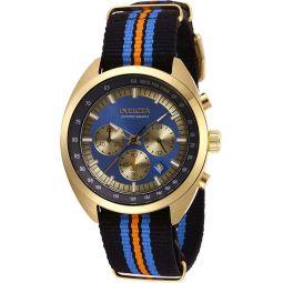 Invicta 45mm Mens S1 Rally Vintage Quartz Chronograph NATO Strap Watch