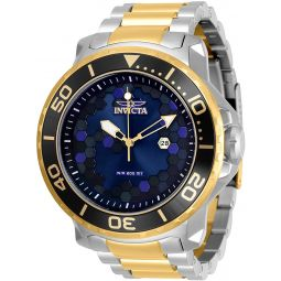 Invicta Mens Pro Diver Quartz Watch with Stainless Steel Strap, Two Tone, 26 (Model: 30564)