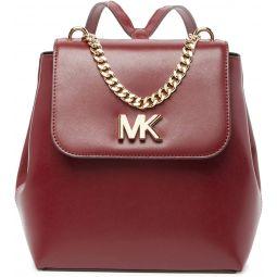 MICHAEL Michael Kors Mott Leather Backpack, OXBLOOD