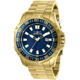 Invicta Mens Pro Diver Quartz Watch with Stainless Steel Strap, Gold, 24 (Model: 25793)